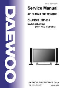 Manual de servicio Daewoo DP-42SM