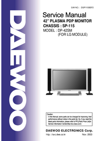Manual de servicio Daewoo DP-42SM (FOR LG MODULE)
