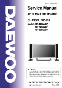 Service Manual Daewoo DP-42GM/GP
