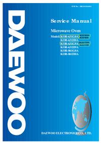 Руководство по техническому обслуживанию Daewoo KOR-861G0A