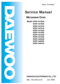 Service Manual Daewoo KOR-1A4H1A