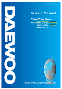 Service Manual Daewoo KOR-131H2A