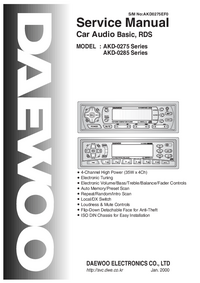 Service Manual Daewoo AKD-0275 Series