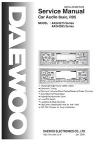 manuel de réparation Daewoo AKD-0285 Series