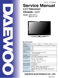 Service Manual Daewoo DEX-47T1S