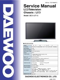 Servicehandboek Daewoo DEX-42T1S