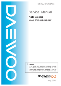 Service Manual Daewoo DWF-240P