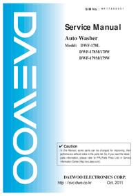 manuel de réparation Daewoo DWF-179M