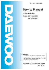 Serviceanleitung Daewoo DWF-240HBTC
