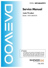 Servicehandboek Daewoo DWF-240LWTP