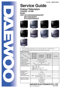 Service Manual Daewoo DTP-14C5