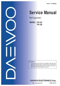 Manual de servicio Daewoo FR-15B