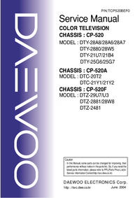 Service Manual Daewoo DTY-28W5