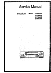 Service Manual Daewoo DV-F40
