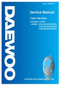 Servicehandboek Daewoo DTH-29G1FST