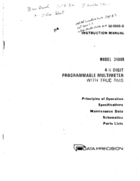 Servicio y Manual del usuario Dataprecision 3400R