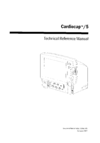 Service Manual DatexOhmeda Cardiocap /5