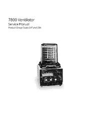 Serviceanleitung DatexOhmeda 7800