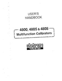 Manuel de l'utilisateur Datron 4805
