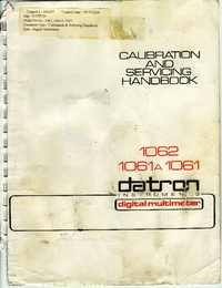 Service Manual Datron 1062
