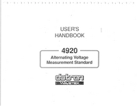 User Manual Datron 4920