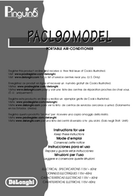 User Manual Delonghi PACL90