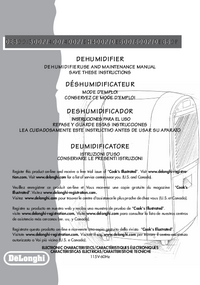 User Manual Delonghi DH400P