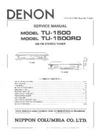 Service Manual Denon TU-1500RD
