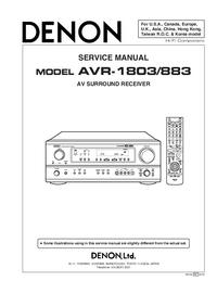 Service Manual Denon AVR-883