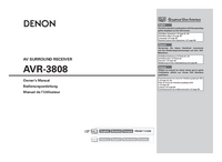 User Manual Denon AVR-3808