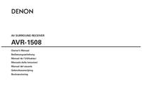User Manual Denon AVR-1508