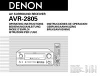 Manuel de l'utilisateur Denon AVR-2805