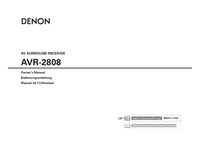 Руководство пользователя Denon AVR-2808
