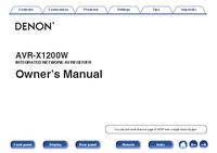 Instrukcja obsługi Denon AVR-X1200W
