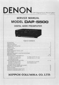 Servicehandboek Denon DAP-5500