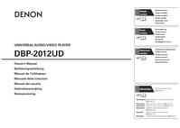 Gebruikershandleiding Denon DBP-2012UD