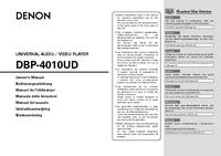 User Manual Denon DBP-4010UD