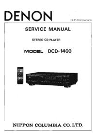 Servicehandboek Denon DCD-1400