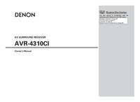 Manual del usuario Denon AVR-4310CI
