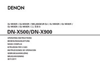 User Manual Denon DN-X900