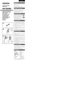 Manual del usuario Denon AH-D2000