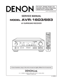 Service Manual Denon AVR-1603
