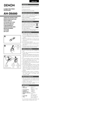 Denon-6009-Manual-Page-1-Picture