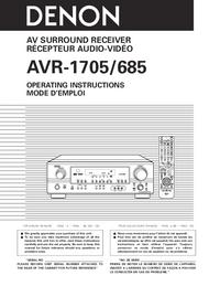 Manual do Usuário Denon AVR-685