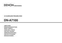 Manual del usuario Denon DN-A7100