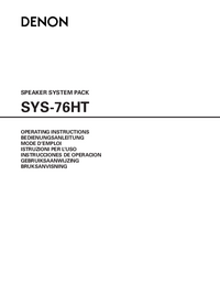 User Manual Denon SYS-76HT