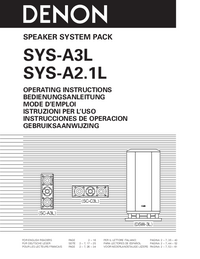 User Manual Denon SYS-A2.1L