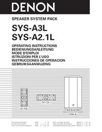 Manuel de l'utilisateur Denon SYS-A2.1L