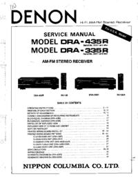 Instrukcja serwisowa Denon DRA-435R