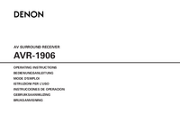 Manual del usuario Denon AVR-1906